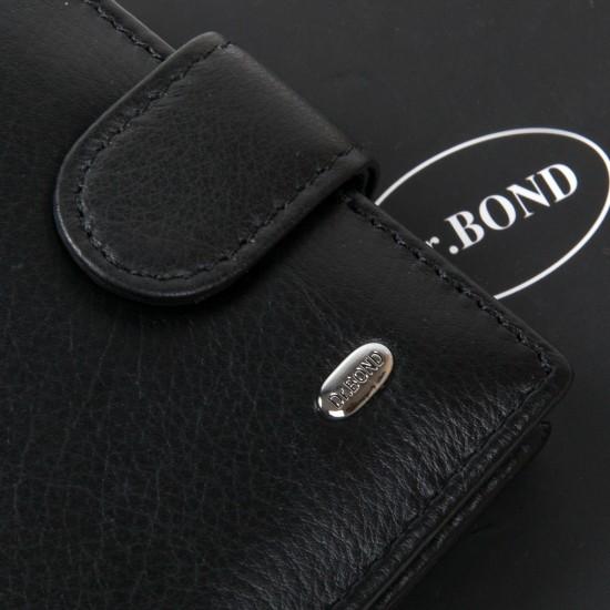 Чоловічий шкіряний портмоне dr.Bond Classic MS-29 чорний