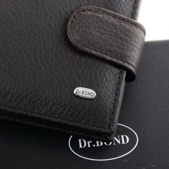 Мужской кожаный портмоне dr.Bond Classic M3 кофейный