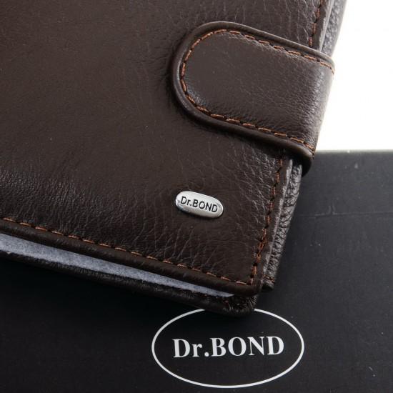 Чоловічий шкіряний портмоне dr.Bond Classic M2 кавовий