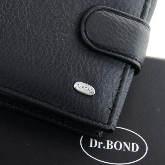 Чоловічий шкіряний портмоне dr.Bond Classic M2 чорний