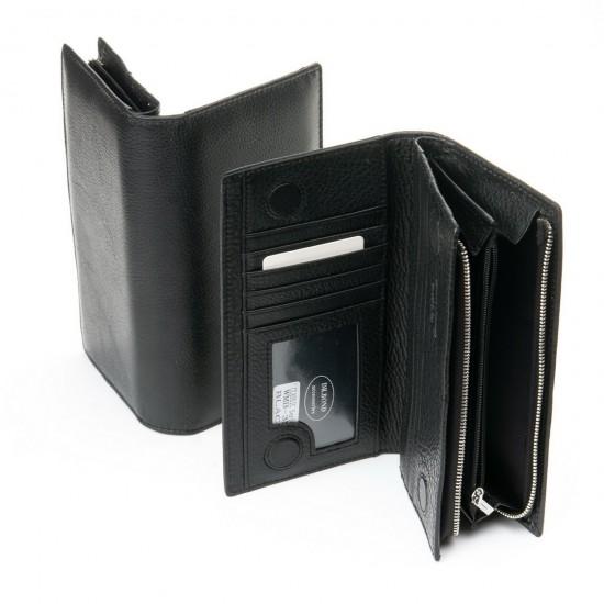 Мужской кожаный портмоне dr.Bond Classic WMB-3M черный