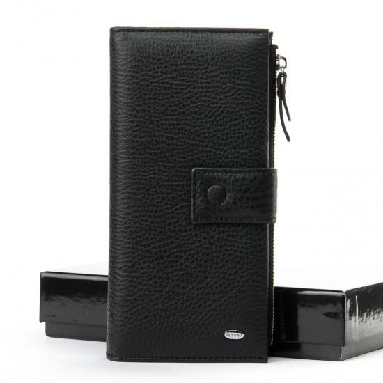 Мужской кожаный портмоне dr.Bond Classic WMB-1 черный