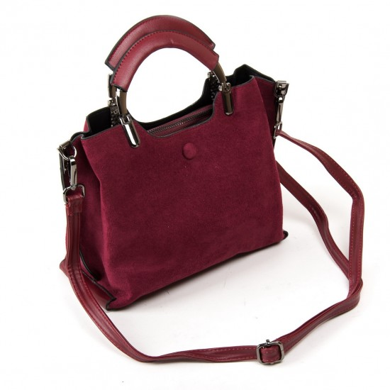Жіноча модельна сумка з замша FASHION 3807 бордовий