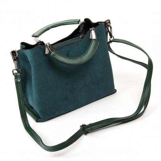 Жіноча модельна сумка з замша FASHION 3807 зелений