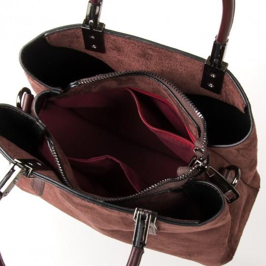 Женская модельная сумка из замша FASHION 2802 кофейный