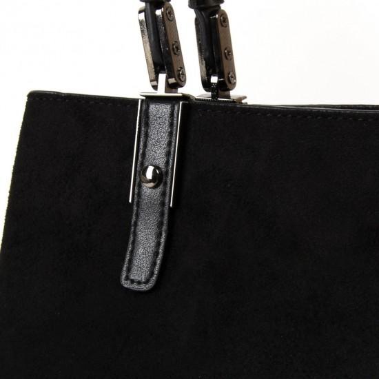 Жіноча модельна сумка з замша FASHION 2802 чорний