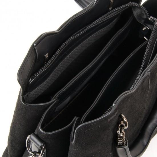 Жіноча модельна сумка з замша FASHION 8083 чорний