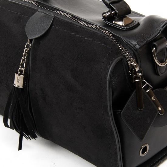 Жіноча модельна сумка з замша FASHION 53377 чорний