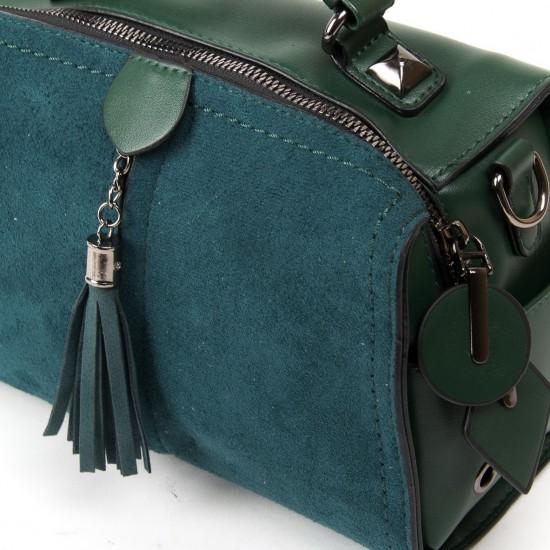 Жіноча модельна сумка з замша FASHION 53377 зелений