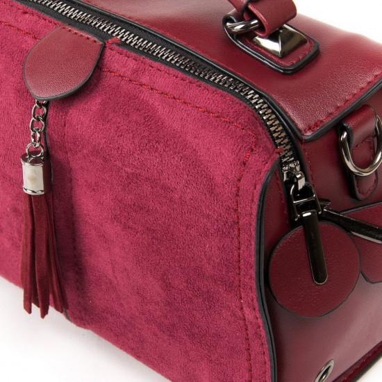 Жіноча модельна сумка з замша FASHION 53377 бордовий