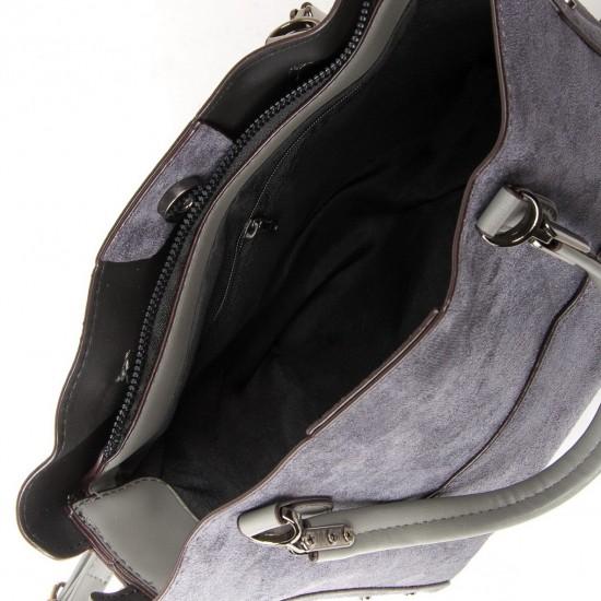 Жіноча модельна сумка з замша FASHION 5124 сірий