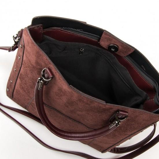 Жіноча модельна сумка з замша FASHION 5124 кавовий