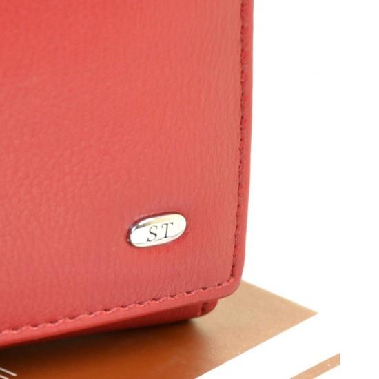 Женский кожаный кошелек SERGIO TORRETTI W11 красный