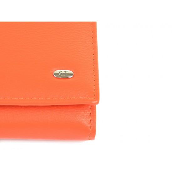 Женский кожаный кошелек SERGIO TORRETTI W501-1  оранжевый