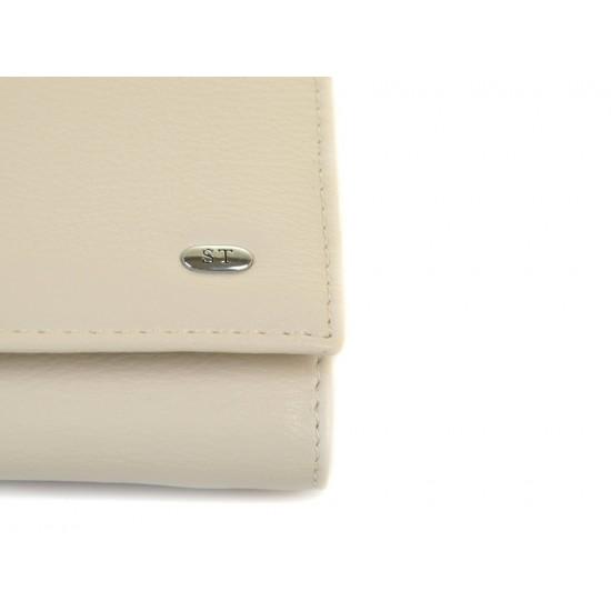 Жіночий шкіряний гаманець SERGIO TORRETTI W501-1  бежевий