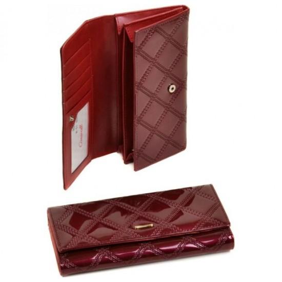 Жіночий лаковий гаманець Rose Series-2 Cossrol WD-51 бордовий