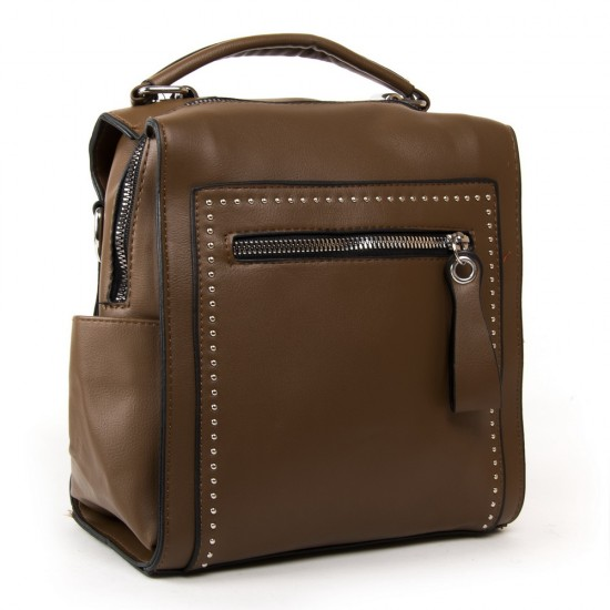 Женская сумка-рюкзак FASHION 53380 коричневый