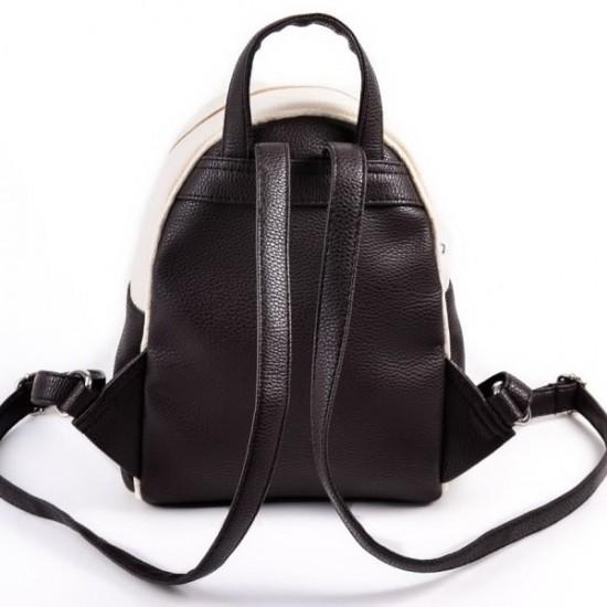 Жіночий міні-рюкзак LARGONI 124 бежевий + кавовий