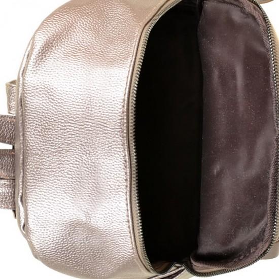 Женская рюкзак ALEX RAI 1703-2 бронзовый