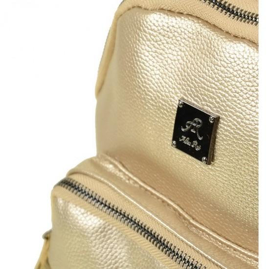 Женская рюкзак ALEX RAI 1703-2 золотой