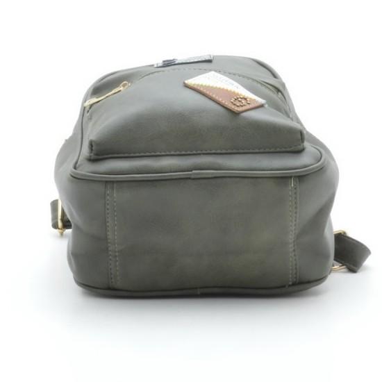 Женская рюкзак FASHION 98009 зеленый