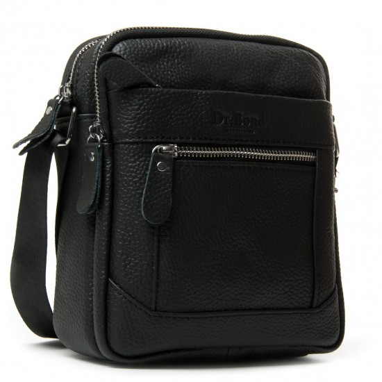 Чоловіча сумка-планшет з натуральної шкіри dr.Bond 223 чорний