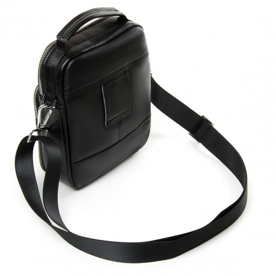 Чоловіча сумка-планшет з натуральної шкіри dr.Bond 8118 чорний