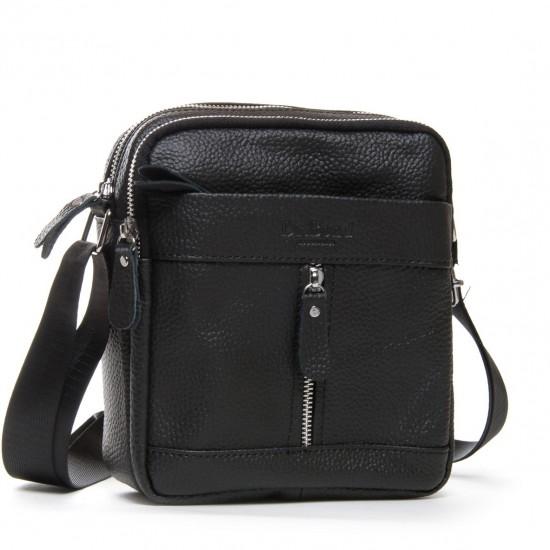 Чоловіча сумка-планшет з натуральної шкіри dr.Bond 1201 чорний