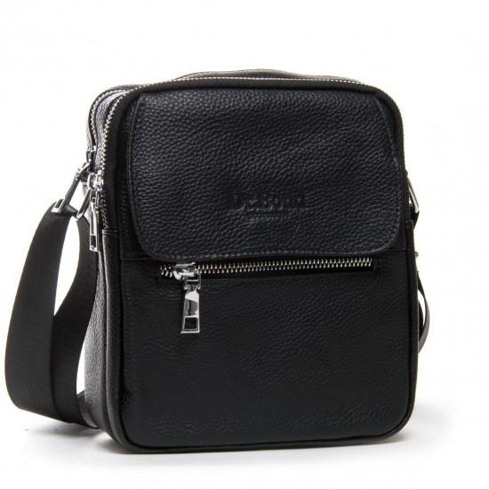 Чоловіча сумка-планшет з натуральної шкіри dr.Bond 1106 чорний