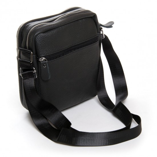 Чоловіча сумка-планшет з натуральної шкіри dr.Bond 1108 чорний
