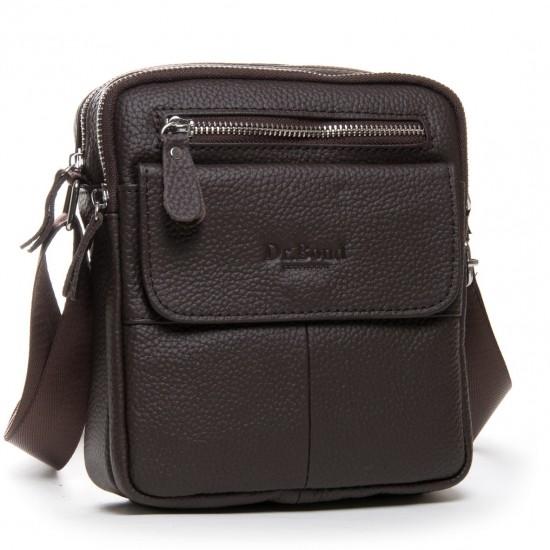 Чоловіча сумка-планшет з натуральної шкіри dr.Bond 1108 кавовий