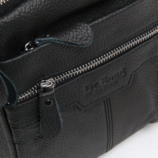 Мужская сумка-планшет из натуральной кожи dr.Bond 8016 черный