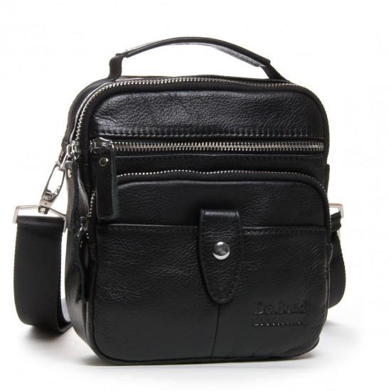 Мужская сумка-планшет из натуральной кожи dr.Bond 8147 черный