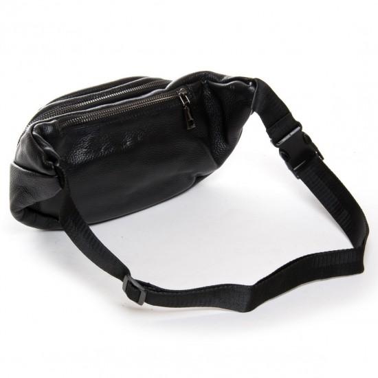 Мужская сумка на пояс или через плечо из натуральной кожи dr.Bond 66332 черный