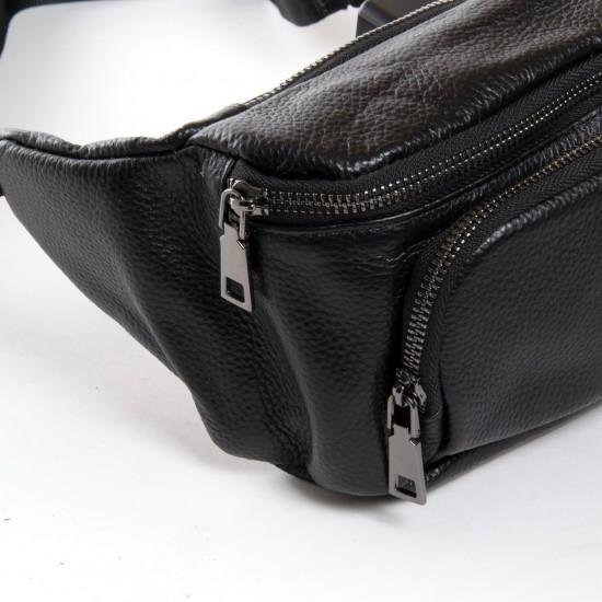 Мужская сумка на пояс или через плечо из натуральной кожи dr.Bond 66329 черный