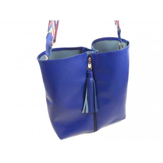 Жіноча модельна сумка + косметичка LARGONI T1711 синій