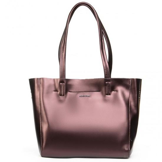 Жіноча сумка з натуральної шкіри ALEX RAI 8630 бронзовий