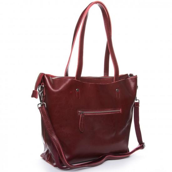 Жіноча сумка з натуральної шкіри ALEX RAI 1542-64 бордовий