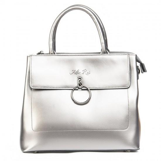 Жіноча сумка з натуральної шкіри ALEX RAI 9921 срібло
