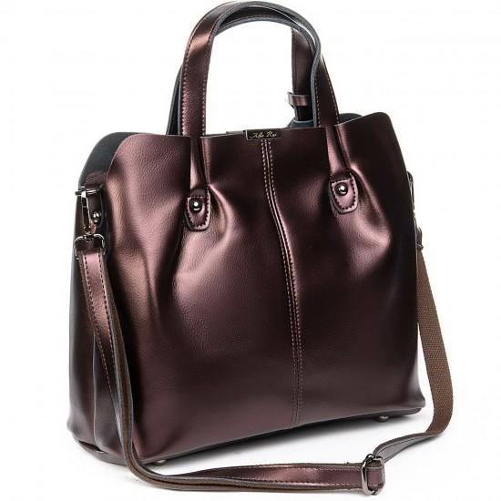 Жіноча сумка з натуральної шкіри ALEX RAI 8655 бронзовий