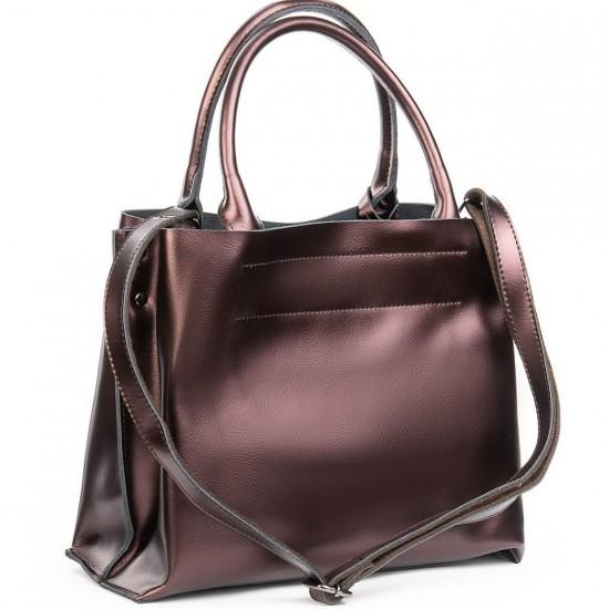 Жіноча сумка з натуральної шкіри ALEX RAI 8550-1 бронзовий