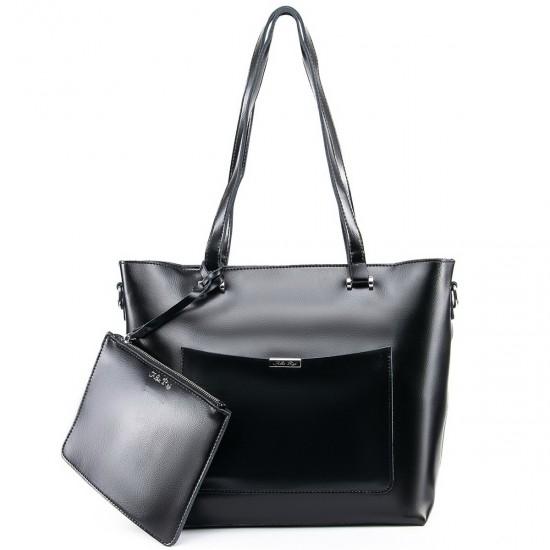 Жіноча сумка з натуральної шкіри ALEX RAI 9322 чорний