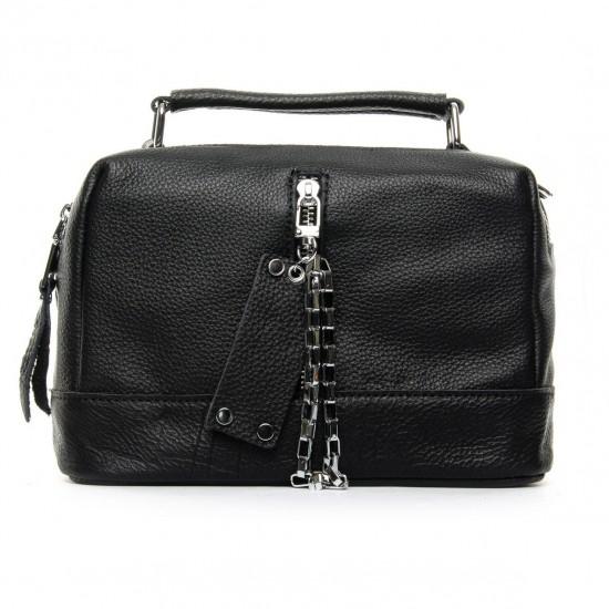 Женская сумка из натуральной кожи ALEX RAI 8776-9 черный
