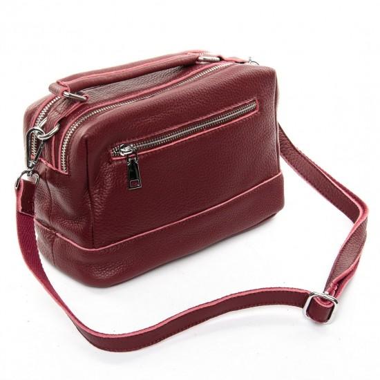 Жіноча сумка з натуральної шкіри ALEX RAI 8776-9 бордовий
