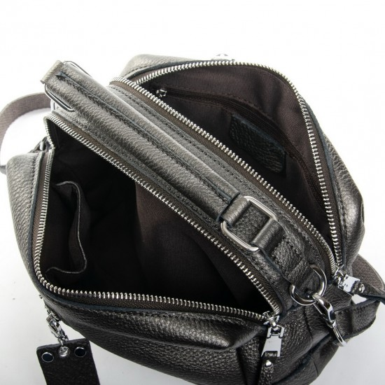Женская сумка из натуральной кожи ALEX RAI 8776-9 серый