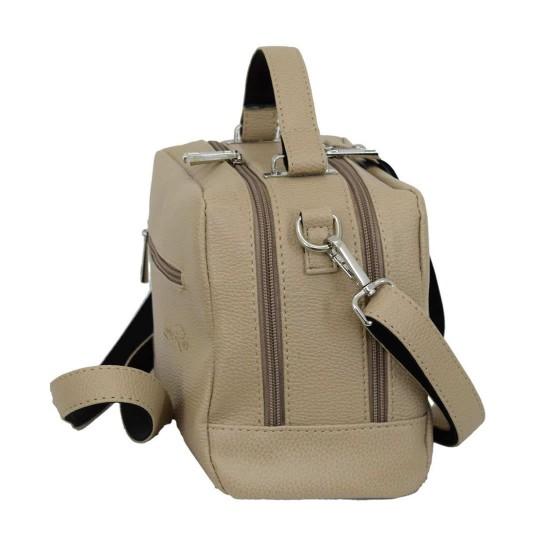 Женская модельная сумочка LUCHERINO 649 бежевый
