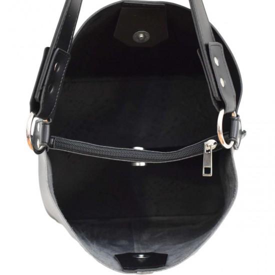 Жіноча модельна сумочка LUCHERINO 573 срібло