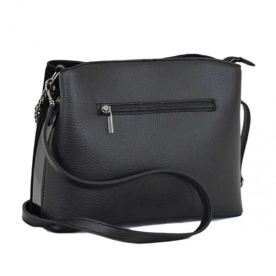 Женская сумочка из натурального замша LUCHERINO 628 черный