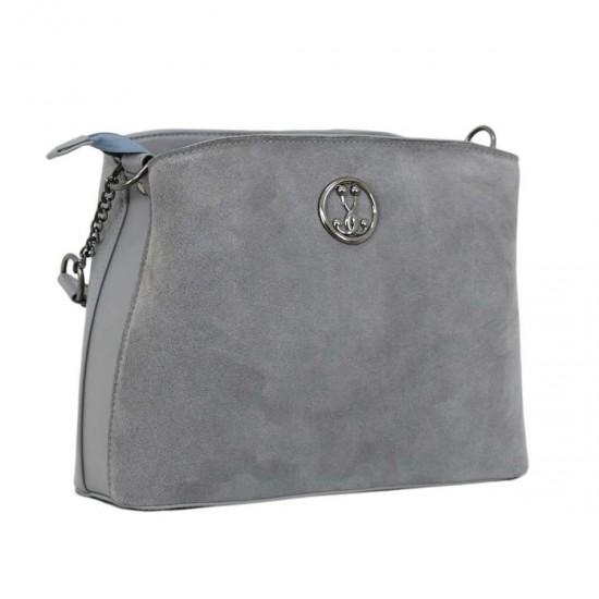 Жіноча сумочка з натурального замша LUCHERINO 628 сірий