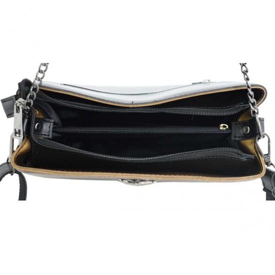 Жіноча модельна сумочка LUCHERINO 628 золотий